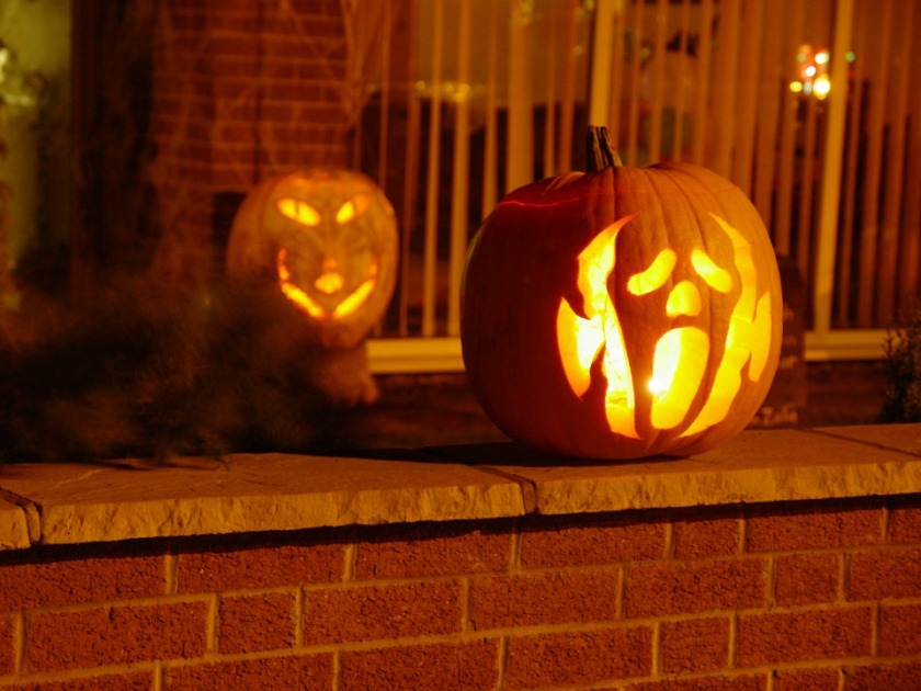 because these are carved pumpkins